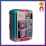 Детский игровой набор чемодан-трюмо 8254P туалетный столик для девочек + Подарок, фото 2