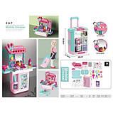 Детский игровой набор чемодан-трюмо 8254P туалетный столик для девочек + Подарок, фото 5