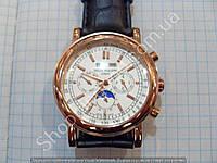 Механические часы Patek Philippe P72522 скелетон с автоподзаводом золотистые на белом циферблате
