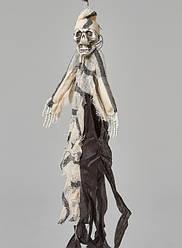 Подвесной декор Скелет узник чёрно-белый \ мигающие глаза