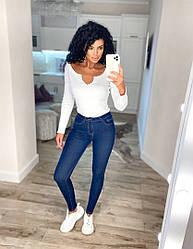 Жіночі стрейчеві джинси середня посадка 25, 26, 27, 28, 29, 30