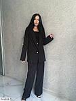 Жіночий костюм класика брюки і піджак, 42-44, 44-46, 46-48, чорний, пудра, костюмка, фото 3