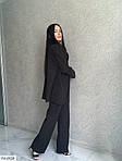 Жіночий костюм класика брюки і піджак, 42-44, 44-46, 46-48, чорний, пудра, костюмка, фото 4