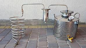 Дистилятор під непроточную воду Змійовик, перегінний куб, харчова НЕРЖ