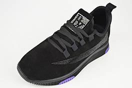 Замшеві кросівки Lonza 369111 39 Чорний з фіолетовим