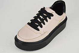 Кросівки на платформі Kento 1588 38 Візон з чорним шкіра