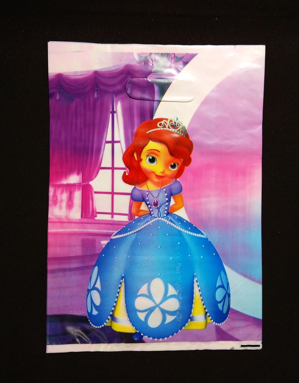 Пакеты  детские праздничные Принцесса София  22х30 см  10 шт