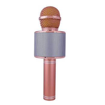 Безпровідний мікрофон караоке Wster WS 858 Рожеве золото (113)