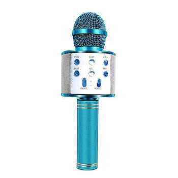 Безпровідний мікрофон караоке Wster WS 858 Блакитний (114)