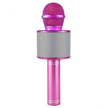 Безпровідний мікрофон караоке Wster WS 858 Рожевий (115)