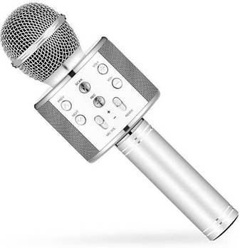 Караоке мікрофон Wster WS 858 Сріблястий (150)