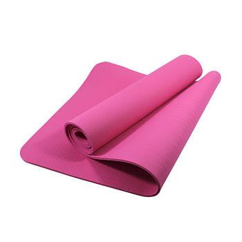 Коврик для фитнеса и йоги Dobetters DBT-YG6 TPE 1830 х 610 х 60 мм Pink (4742-14078a)