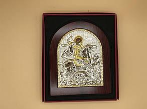 Икона в рамке из красного дерева Георгий Победоносец