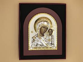 Икона в рамке из красного дерева Богородица с Иисусом