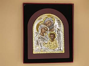 Икона в рамке из красного дерева Святое семейство