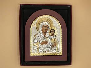 Икона в рамке из красного дерева Богородица с Иисусом2