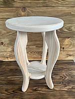 Табурет деревянный из сосны ручной работы