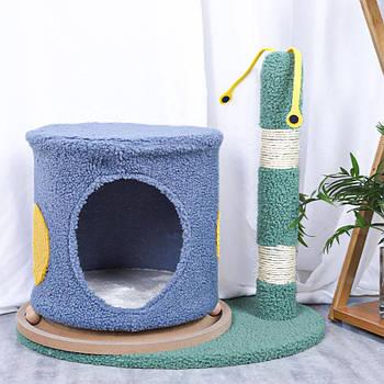 Когтеточка-домик для кота Taotaopets 044421 Улитка 50*43 см