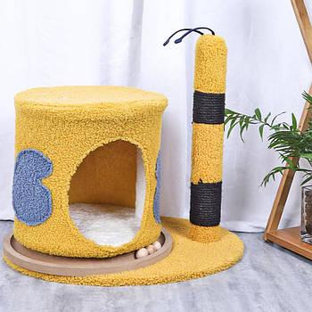 Когтеточка-домик для кота Taotaopets 044421 Пчёлка 50*43 см