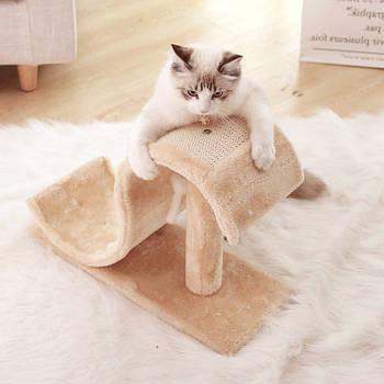 Когтеточка (дряпка) для кота с игрушкой Hoopet Волна 18T0146MN