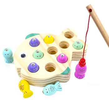 Дерев'яна розвиваюча гра Lesko BLLN-3041 Риболовля для дітей