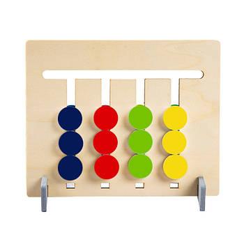 Дитяча двостороння гра-головоломка Lesko XBL-080 Кольору та фрукти
