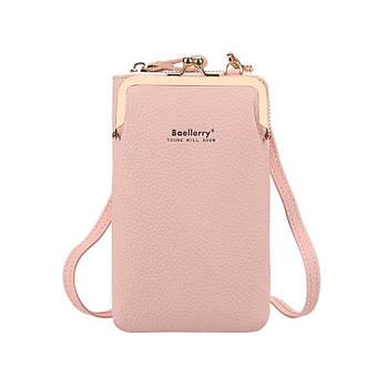 Жіночий гаманець-сумка через плече Lesko N8601 Light Pink