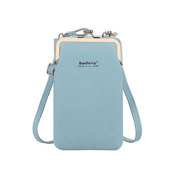 Жіночий гаманець-сумка через плече Lesko N8601 Light Blue