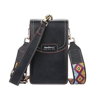 Жіноча сумочка-гаманець Lesko N8608 Black