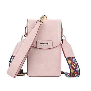 Жіноча сумочка-гаманець Lesko N8608 Light Pink