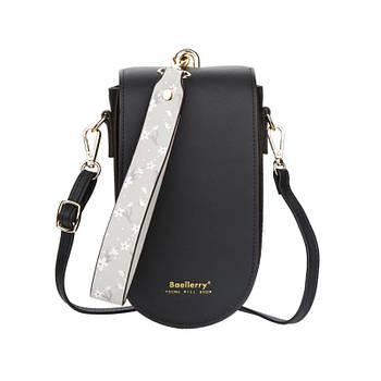 Жіноча сумочка-гаманець Lesko N8613 Black