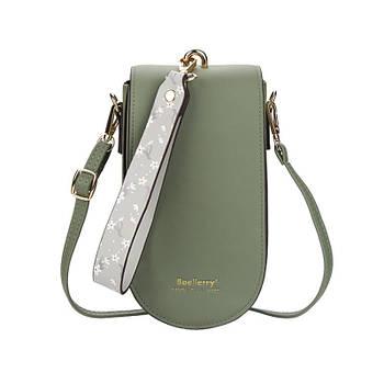 Жіноча сумочка-гаманець Lesko N8613 Green