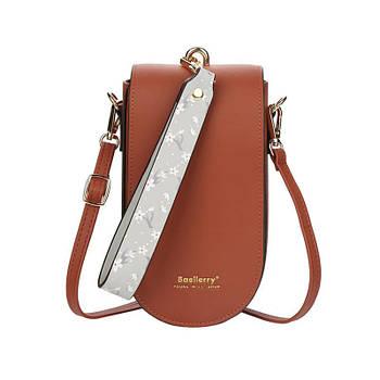 Жіноча сумочка-гаманець Lesko N8613 Brown