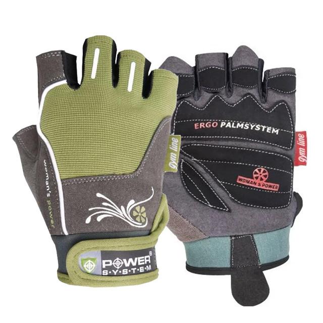 Рукавички для фітнесу і важкої атлетики Power System Woman's Power PS-2570 жіночі Green XS