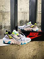 "Кроссовки Найк Nike React Vision ""White/Black-Wolt-Blue Fury"""