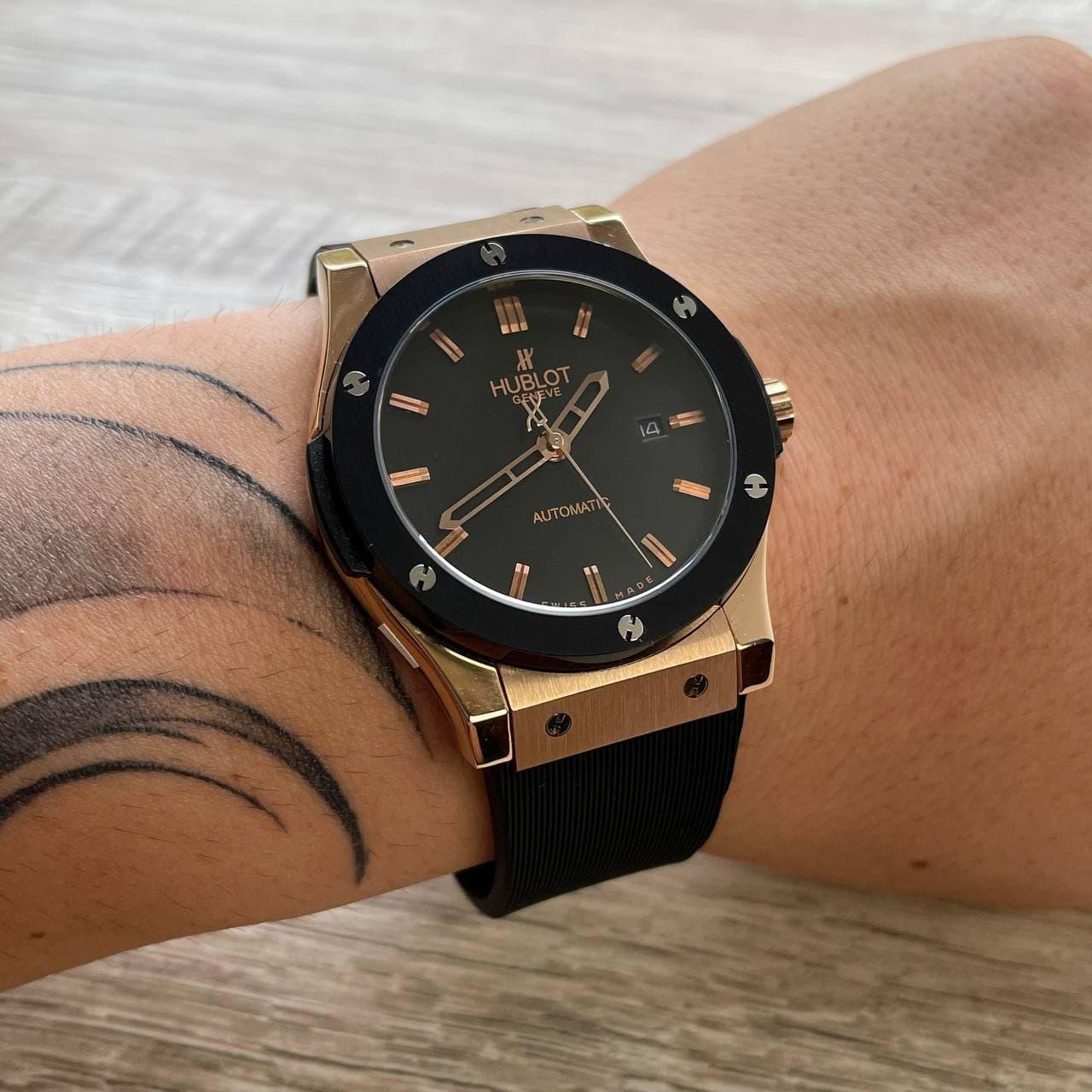 Годинники наручні H u b l o t 5826 Classic Fusion Automatic Black-Gold-Black-Black