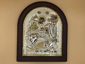 Икона в большой рамке Георгий Победоносец