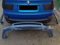Накладка на задній бампер для BMW X5 E70 2007-2013 р. в. в стилі Hamann Flash