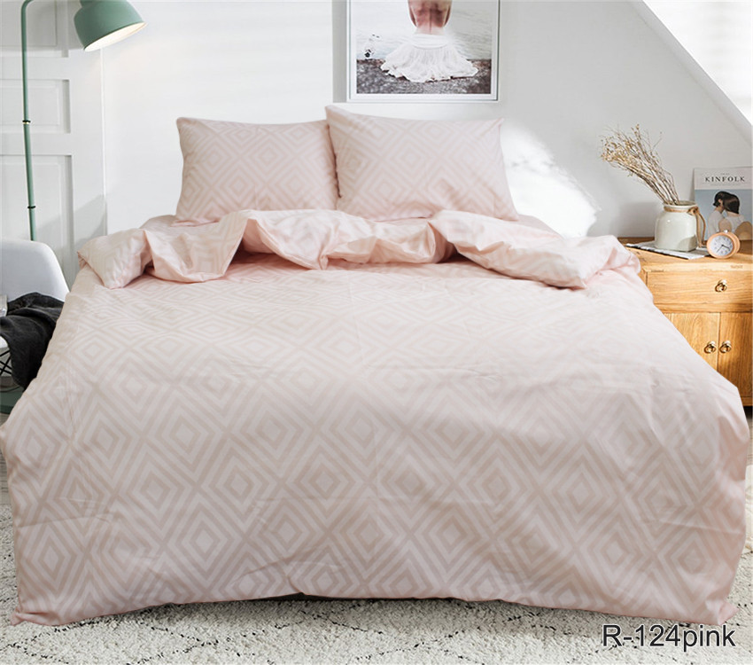 Двухспальный. Комплект постельного белья R124pink