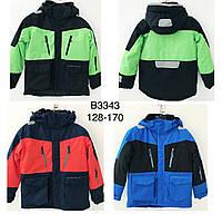 Термокуртка зимняя на мальчика двухцветная оптом  JUSTPLAY 128--170см