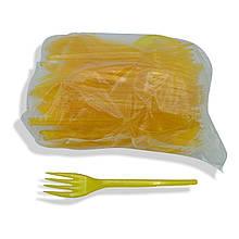Вилки пластикові Жовті 100 шт Юніта