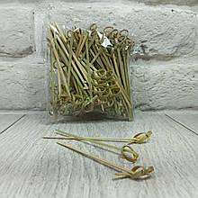 Шпажка для канапе бамбукові Палички з вузликом 9см 100шт