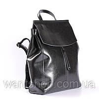 Стильный женский рюкзак из натуральной кожи Черный Tiding Bag - 25437, фото 2