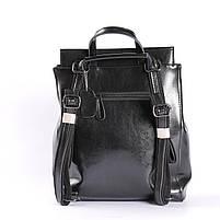 Стильный женский рюкзак из натуральной кожи Черный Tiding Bag - 25437, фото 4