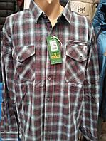 Рубашка байковая в клетку с карманами