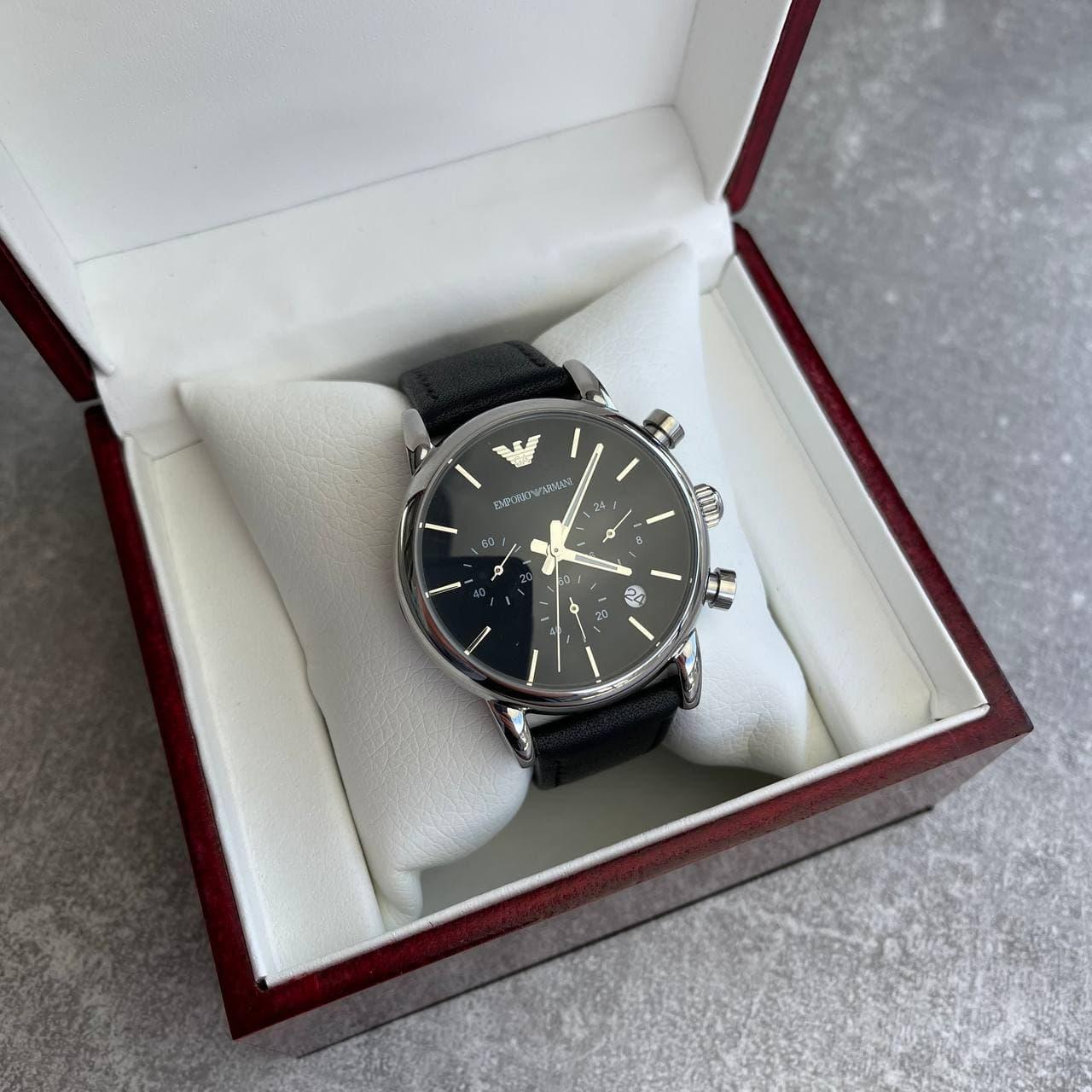 Годинники наручні Emporio Armani 1733 Black-Silver