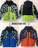 Термокуртка на мальчиков  подростков цветная оптом 140--170см