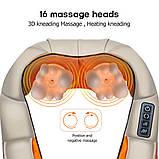 Роликовий масажер для шиї і спини Massager of Neck Kneading, фото 4