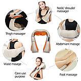 Роликовий масажер для шиї і спини Massager of Neck Kneading, фото 5