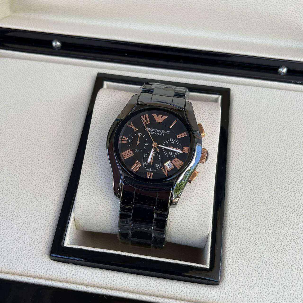 Часы наручные Emporio Armani AR-1400 Black-Gold